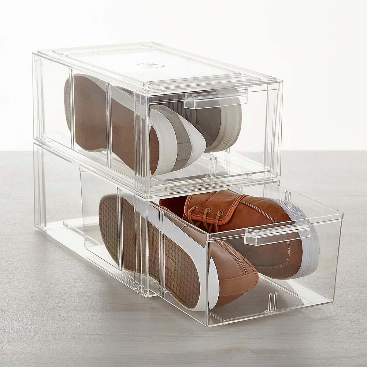 Clear Stackable Men's & Athletic Shoe Drawer | The ...