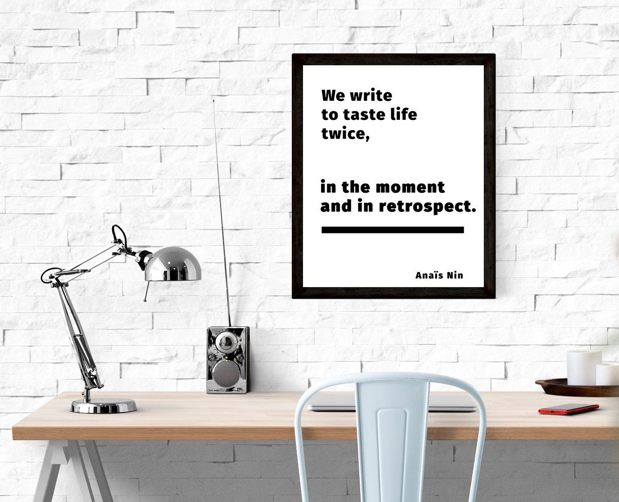 Digital print writer print writer gifts printable quote teacher
