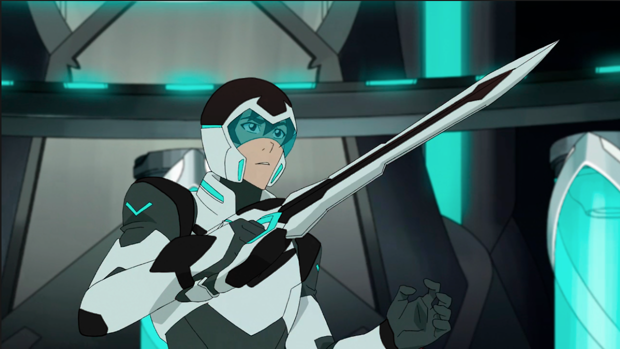 Keith as the Black Paladin with his black and white Bayard sword from Voltron Legendary Defender ...