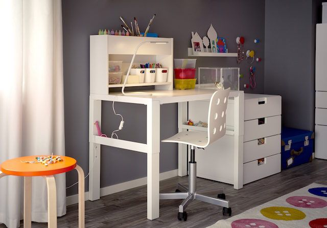 Ikea S Fabulous New Desk Will Grow With Your Child The Interiors Addict Ikea Kids Desk Kids Room Desk Childrens Desk