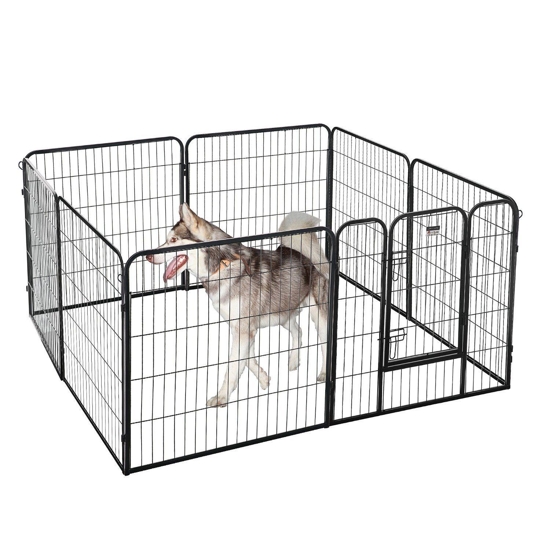 Amazoncom brotherhood 8 panel heavy duty metal pet dog for Costco dog fence