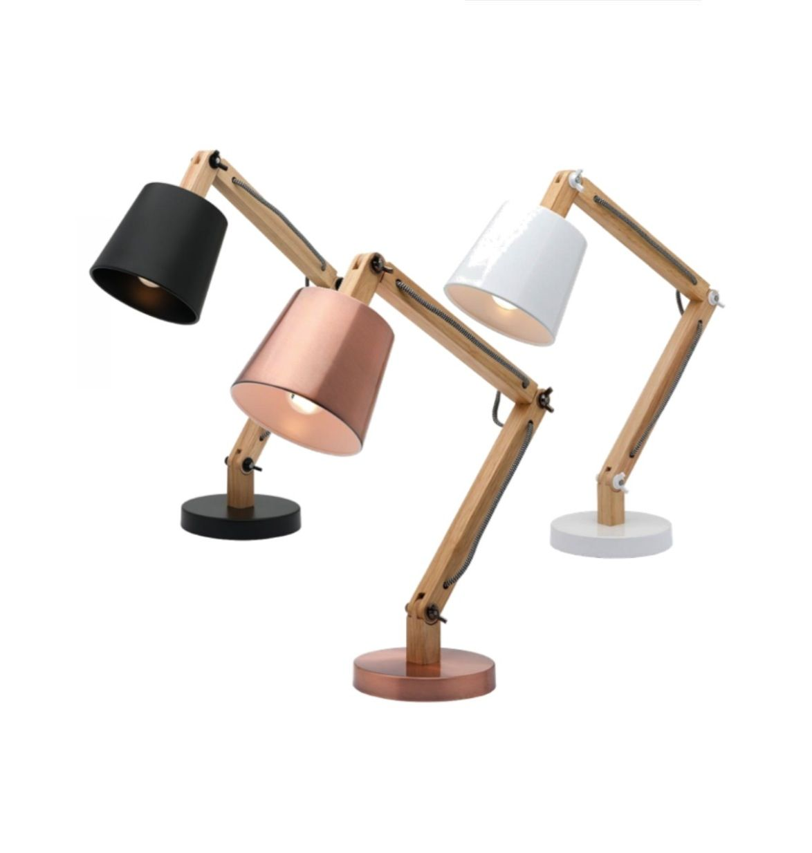 Piper table lamp natural timber black white or copper shade piper table lamp natural timber black white or copper shade mercator a33911 13900 geotapseo Gallery