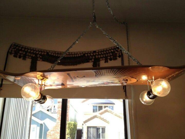 Skateboard Lamp skateboard light fixture! | home diy ideas | pinterest | lights