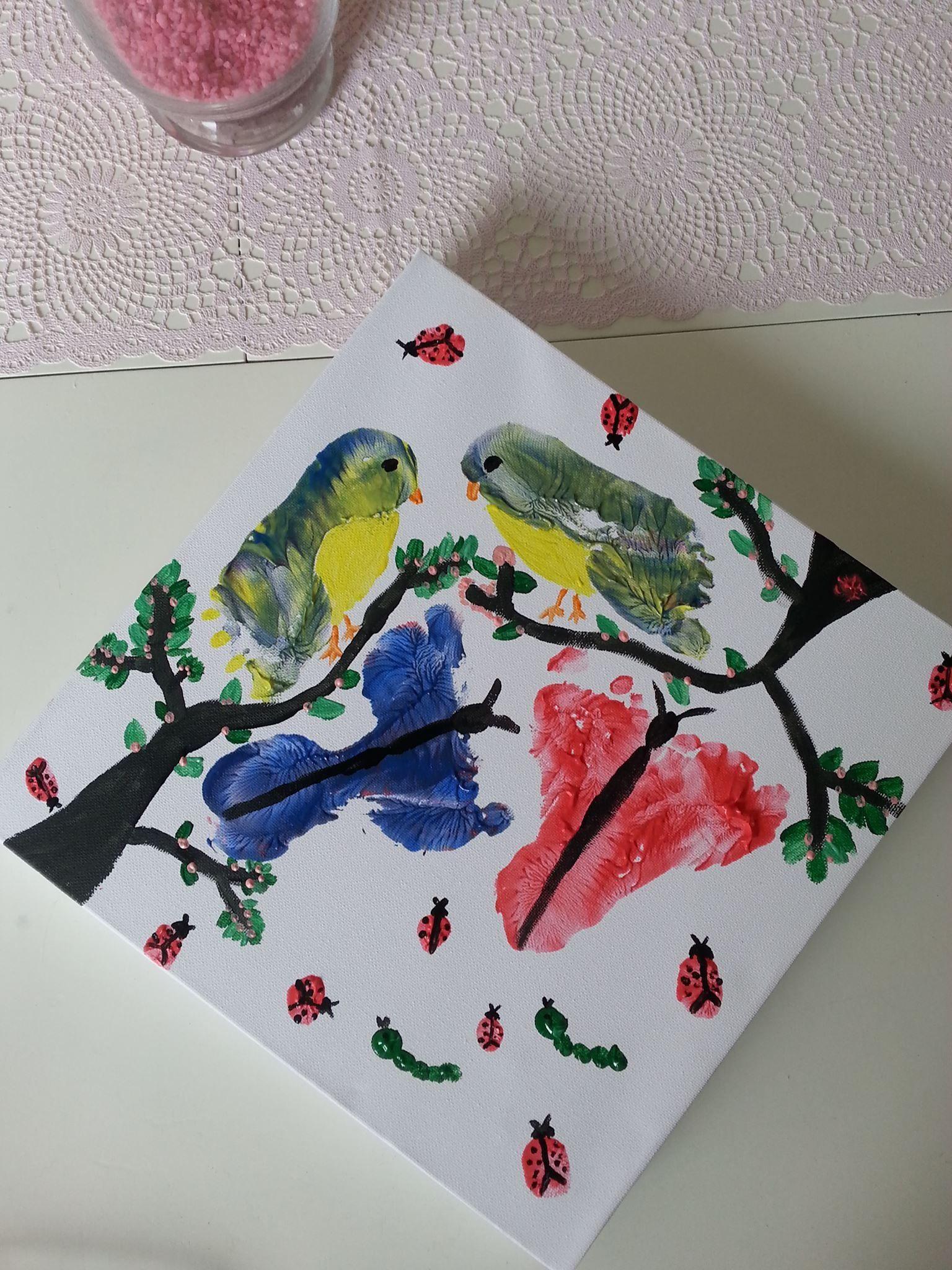 Quatang Gallery- Herfst Knutselen Met Voetjes Handjes Vogels Schilderen Verf Kinderen Baby Knutselen Knutselen Knutselideeen