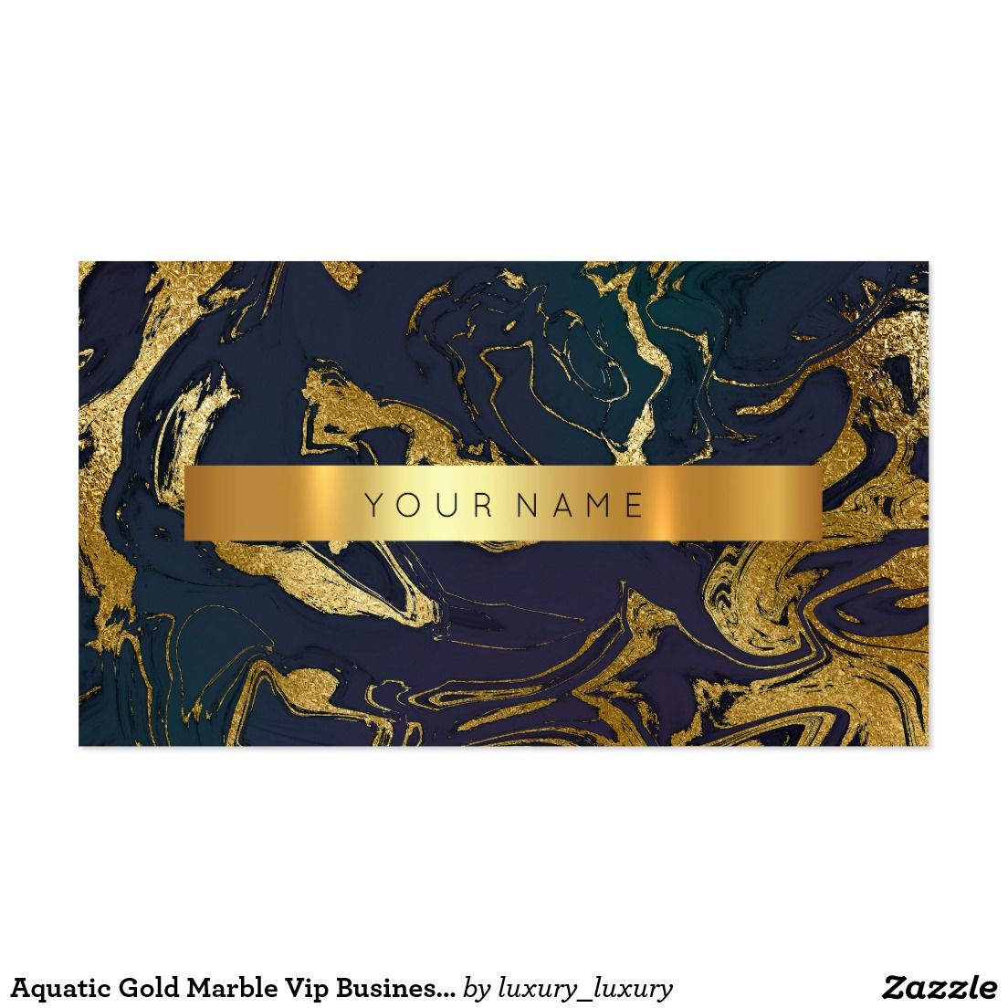Aquatic Gold Marble Vip Business Card | Gold marble, Business cards ...