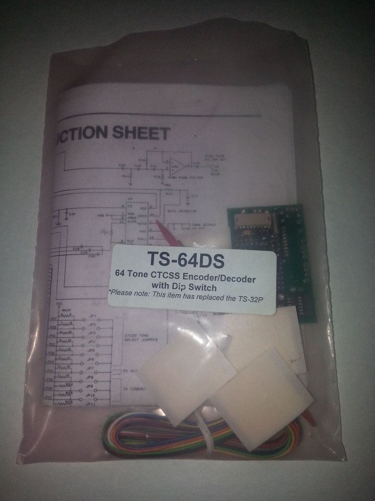 TS-64DS 64 Tone CTCSS Encoder/Decoder, communication specialists inc