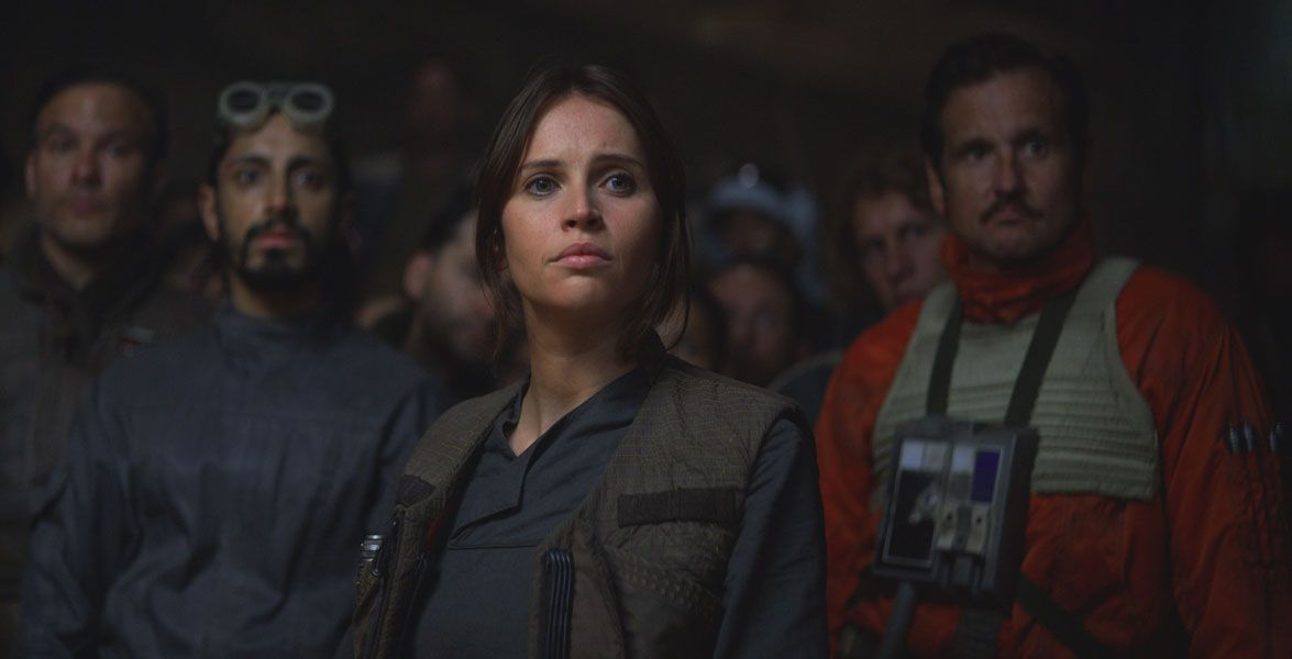"Jyn Erso (Felicity Jones) kämpft in ""Rogue One: A Star Wars Story"" gegen das Imperium"