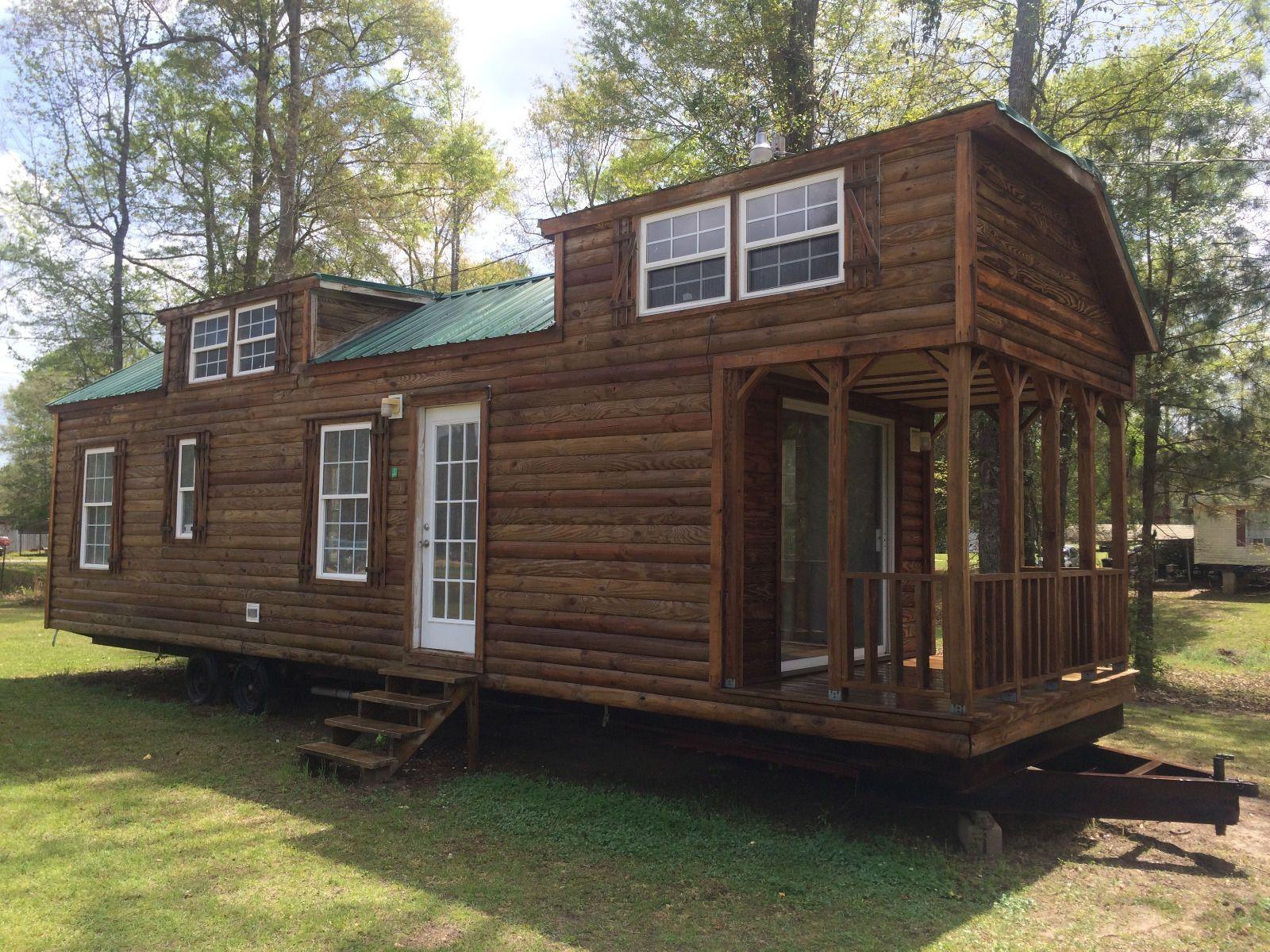 hight resolution of 10x38 tiny house shell park model rv trailer log cabin ebay