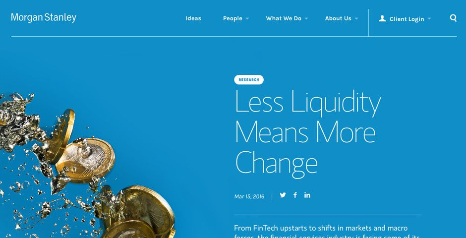 Morgan Stanley Website Redesign The Webby Awards Financial