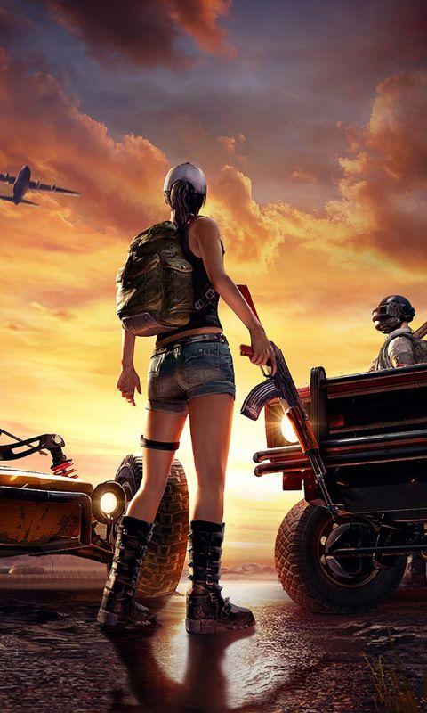 PlayerUnknown's Battlegrounds, video game, artwork, 480x800 wallpaper