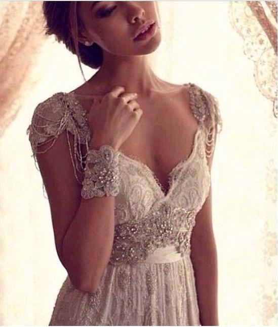 die besten 25 shabby chic wedding dresses ideen auf. Black Bedroom Furniture Sets. Home Design Ideas