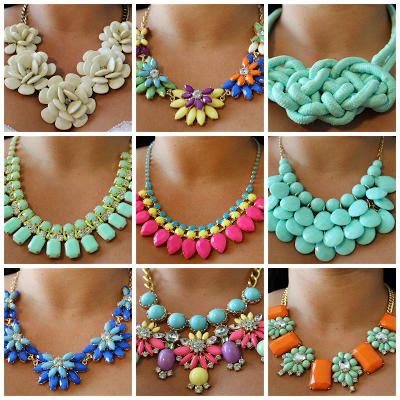 Invest in a statement necklace (or snag some cheapies from Forever 21!) and spruce up your wardrobe for spring and summer!