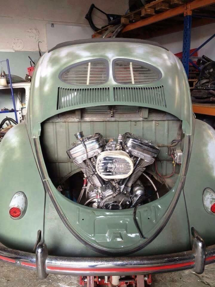 vw bug with harley engine cool motorcycle pinterest volkswagen rh pinterest com