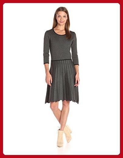 Taylor Dresses Women\'s Full Pleated Skirt Sweater Knit Dress, Black ...