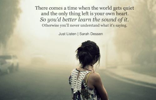"""#quotes  Just Listen ~ Sara Dessen"" I've never read Sara Dessen's books, but I love this quote. So true."