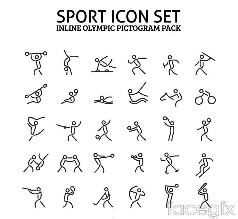 30 sports icon design vector sport icon pictogram