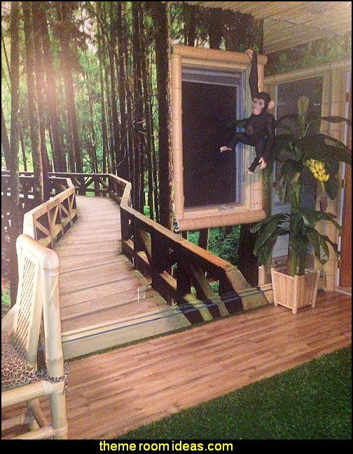 jungle theme bedrooms A foot path in the forest Mural | room ...
