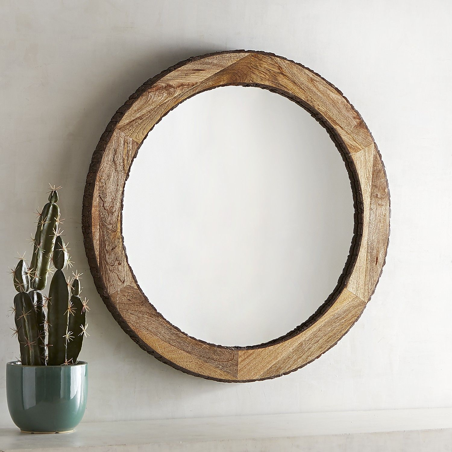Dakota Live Edge 30 Round Mirror Natural Products In 2019