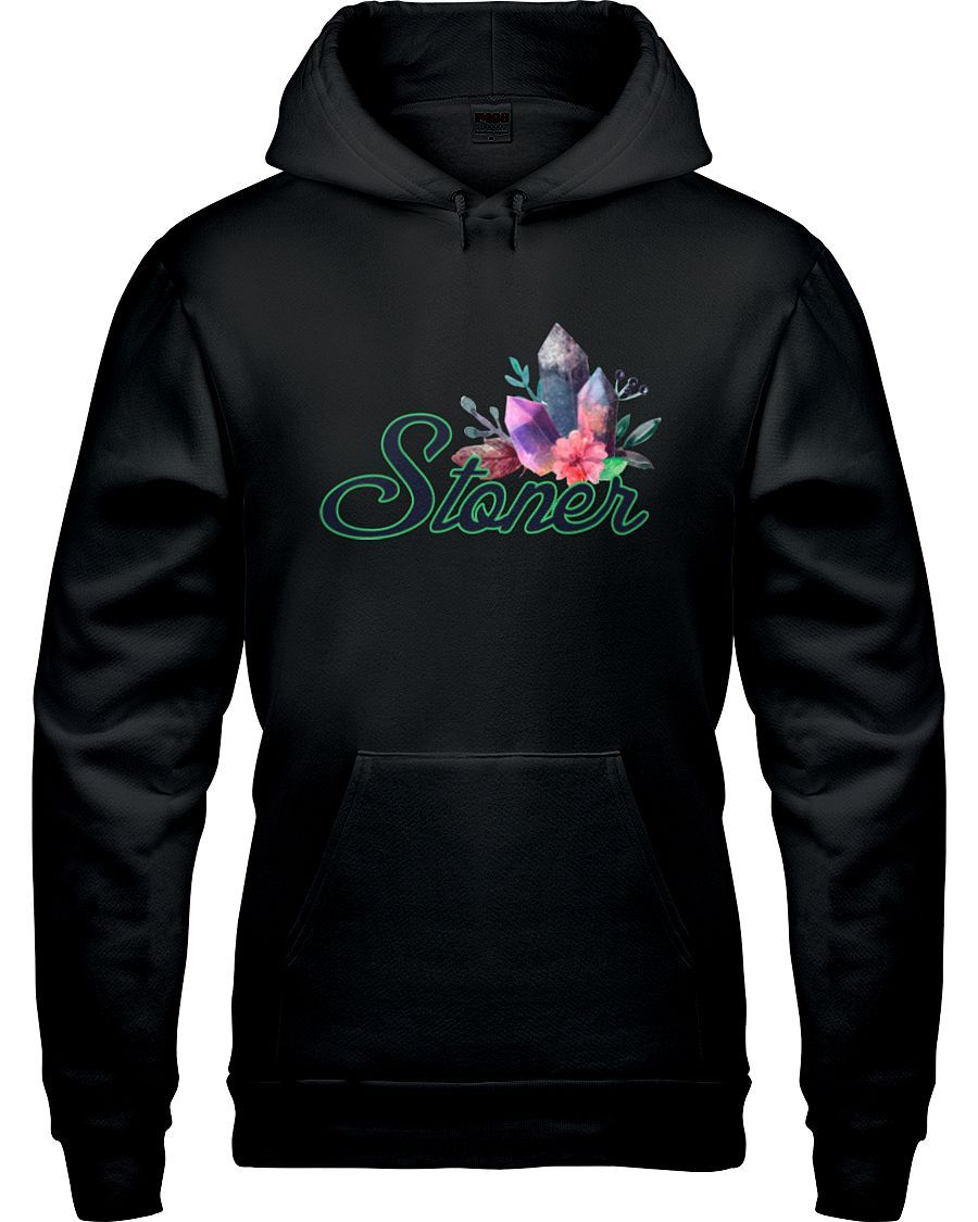 """This fun and colorful """"Stoner"""" hoody is funny, vibrant and truly a statement piece! Keep warm and make a statement. Each item is custom printed and made to order. Please allow for up to 2 weeks for sh"""