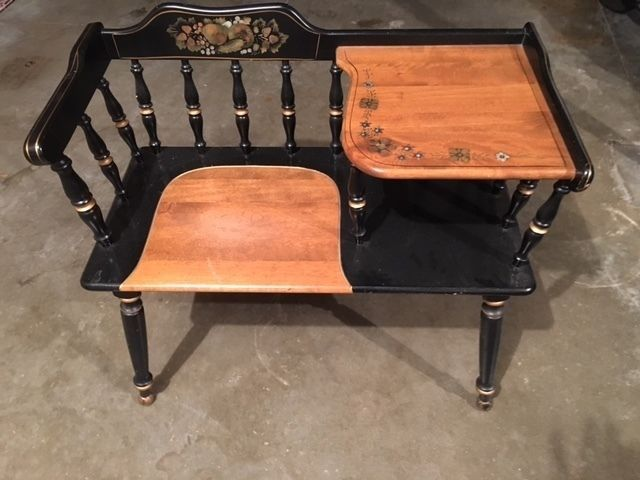Stupendous Ethan Allen Black Gold Hitchcock Stenciled Gossip Bench Ocoug Best Dining Table And Chair Ideas Images Ocougorg