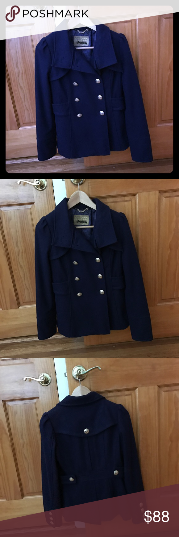 Guess blue peacoat Brand new without tag. Guess Jackets & Coats Pea Coats