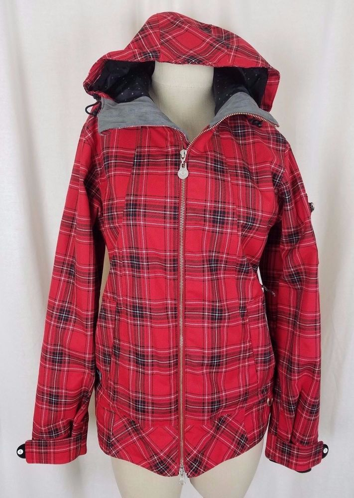 a31d65ad872a8 Roxy Limited Edition Hooded Red Tartan Plaid Winter Parka Ski Jacket Womens  S  ROXY  Parka  Outdoor
