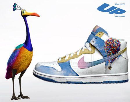 online retailer 83b54 115a1 custom pixar nike disney dunks UP movie pattern