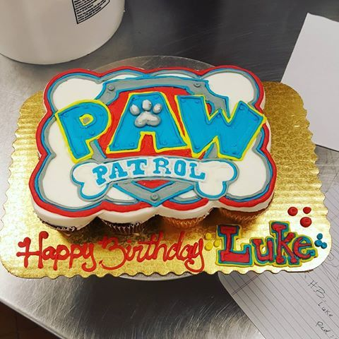 A Paw Patrol Pull Apart Cupcake Cake How Perfect Lol With