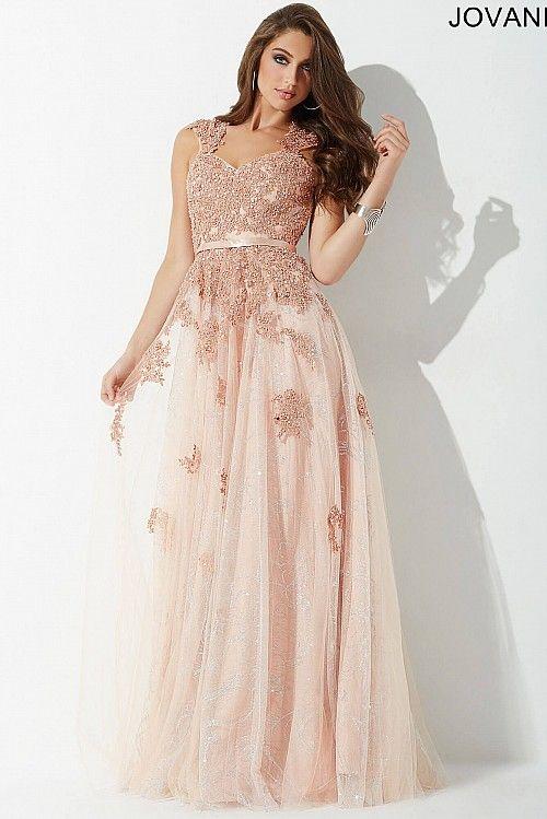 Blush A-Line Evening Dress #25660 #Jovani #eveningdress   Nude/Blush ...
