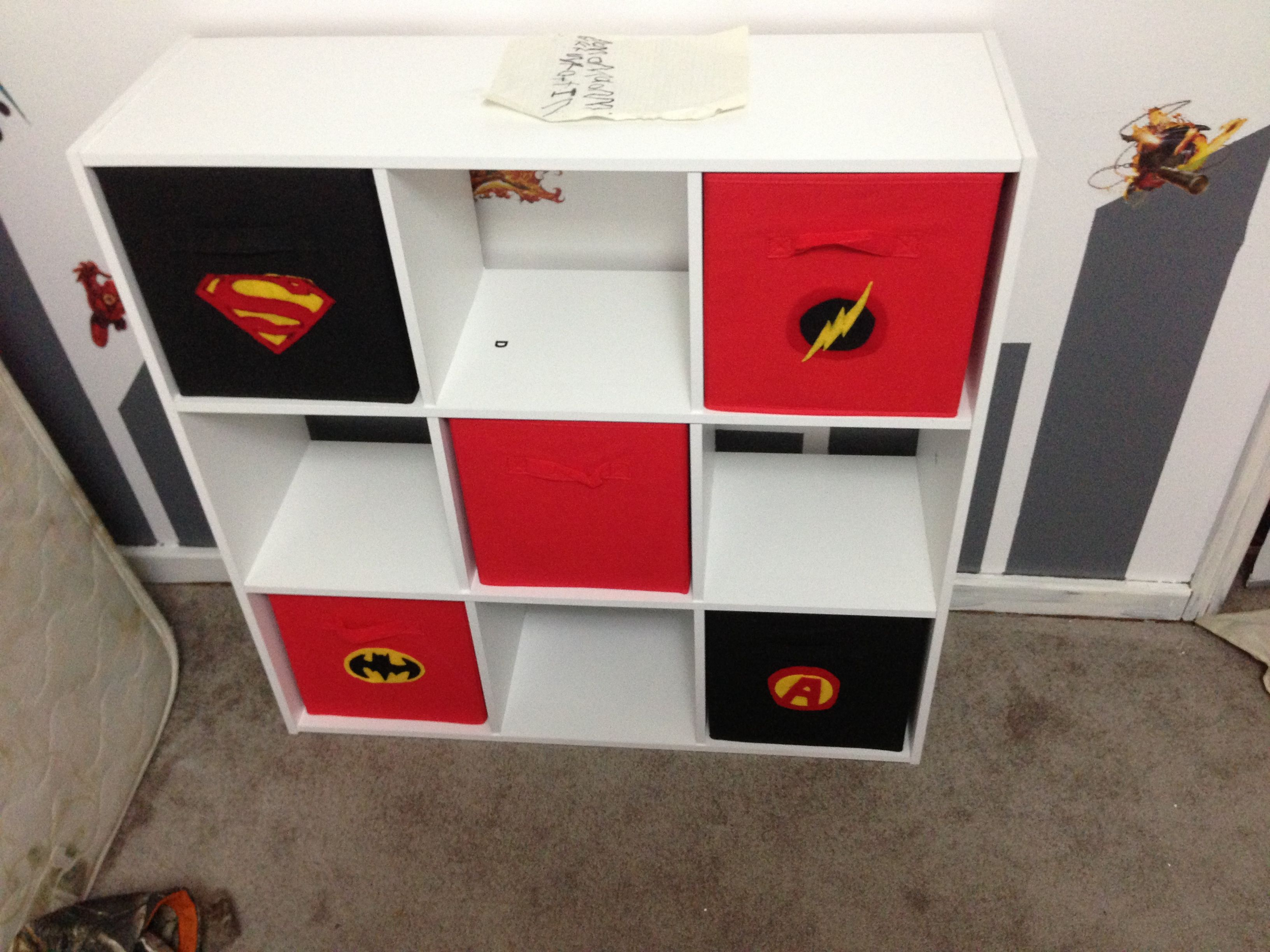 Superhero Boys Room Bookshelf