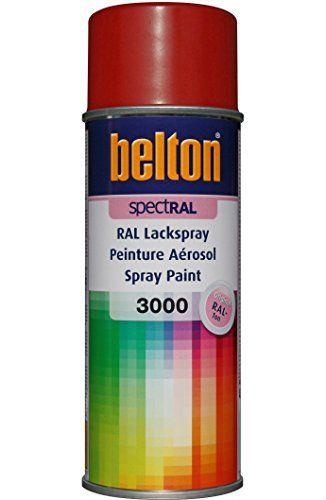 RAL 3000 SATIN ROUGE FEU Mat (BELTON) (Bombe peinture 400 ml - peinture satin ou mat