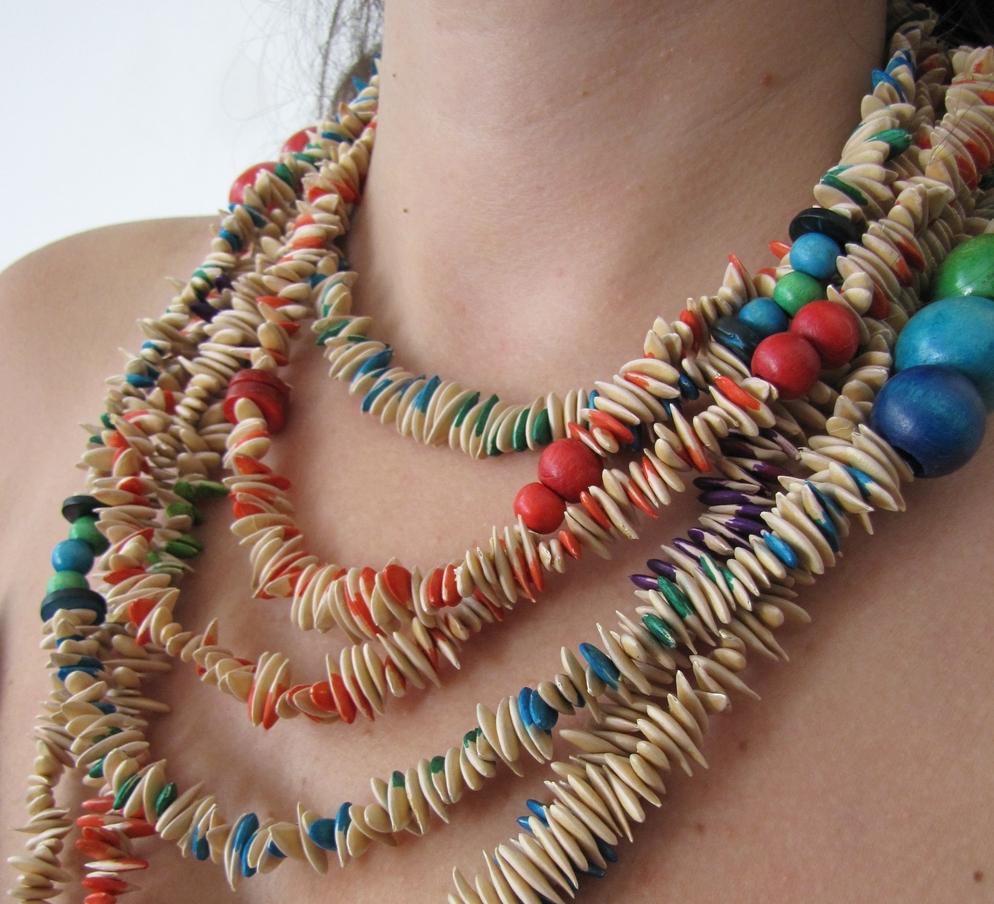Little Treasures: Melon necklaces - Organic jewelery