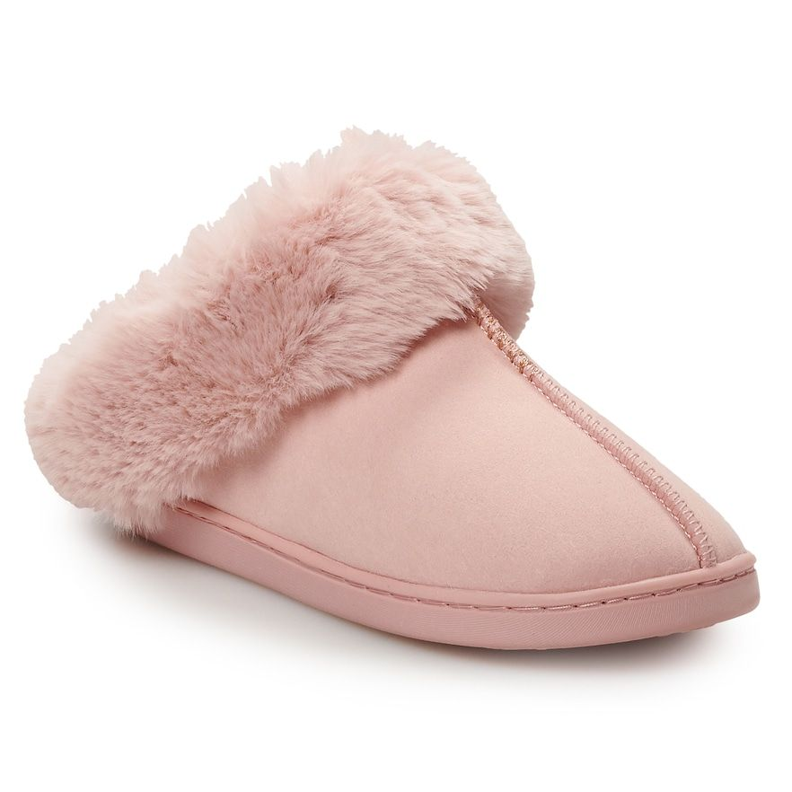 Faux Fur Clog Slippers