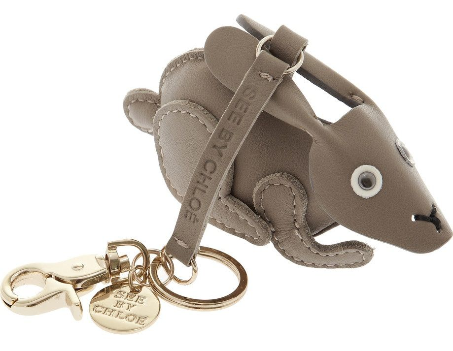 Bunny leather key fob see by chloe leather keyring