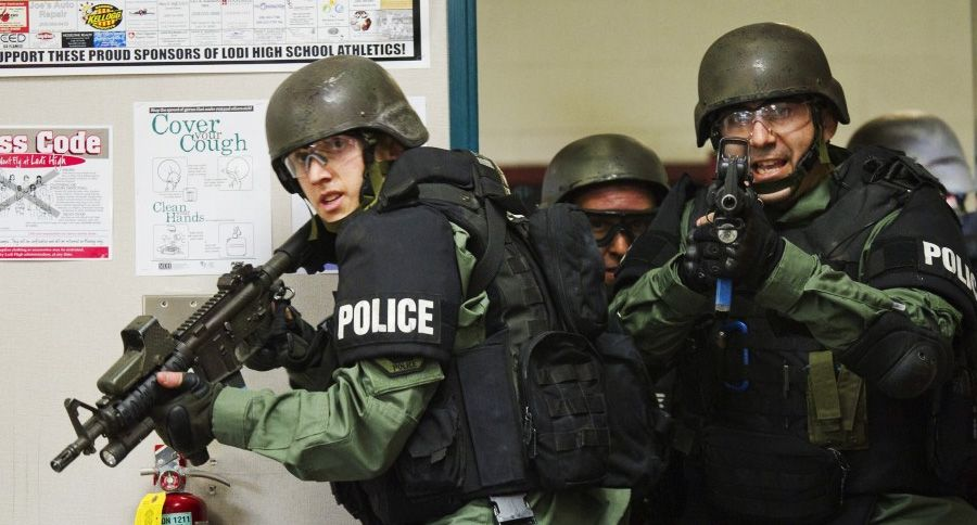 A Colorado high school student is facing a disciplinary hearing after a  SWAT team swarmed her school. and it was all a reaction to her Halloween  costume.