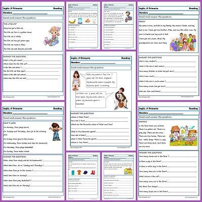 Ejercicios De Inglés Reading Y Writting Para Primero De Primaria Ejercicios De Ingles Ingles Para Principiantes Aprender Ingles Para Niños