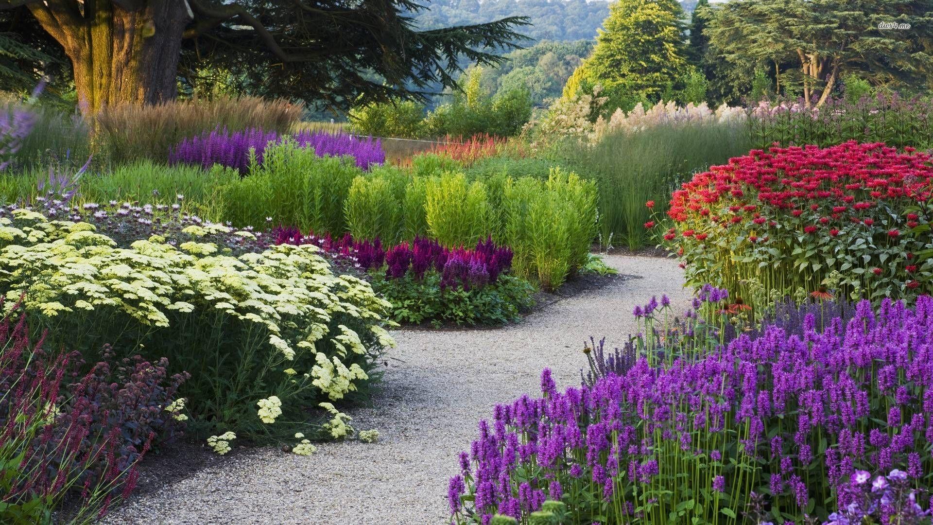 Flower Garden Wallpaper flower gardens wallpaper2 | fantastik manzaralar | pinterest
