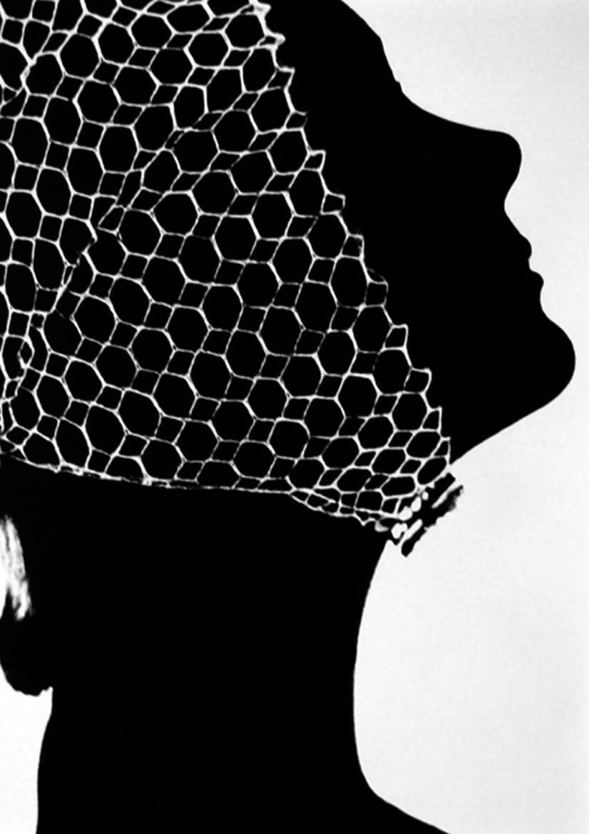 Mesh hat, 1950. Photo: Lillian Bassman.