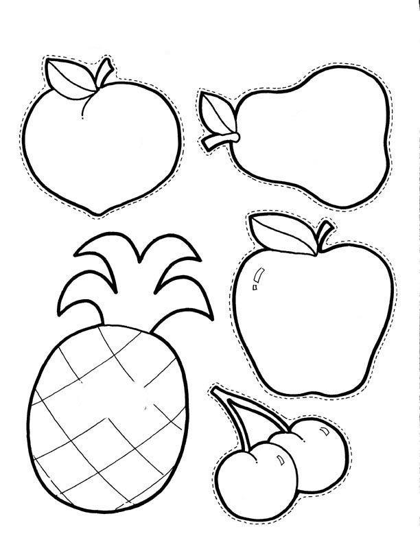 Pintando racimo de uvas, manzana, piña, cerezas, pera... pintadas ...