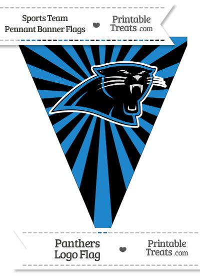 image relating to Carolina Panthers Printable Logo titled Carolina Panthers Pennant Banner Flag against PrintableTreats