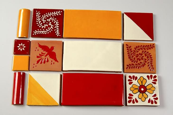 azulejos carrelage terre cuite couleurs orange rouge cuisine
