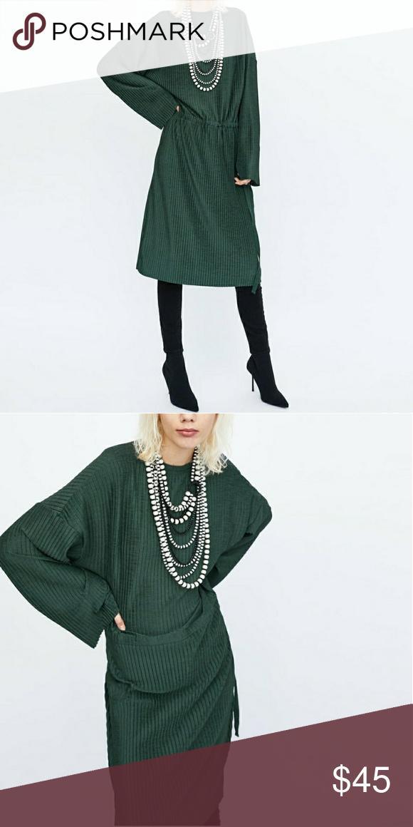 0c18d601 Zara Oversized Dark Green Dress ZARA OVERSIZED DARK GREEN DRESS REF: 5039  New w tags