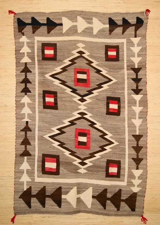 Moore Crystal Trading Post Navajo Rug Weaving Circa 1903 1920 For