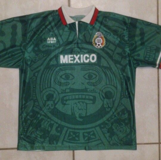d363074c306 Vintage ABBA SPORT Mexico National Team Soccer Jersey