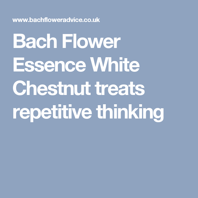 Bach flower essence white chestnut treats repetitive thinking remedies bach flower essence white chestnut mightylinksfo