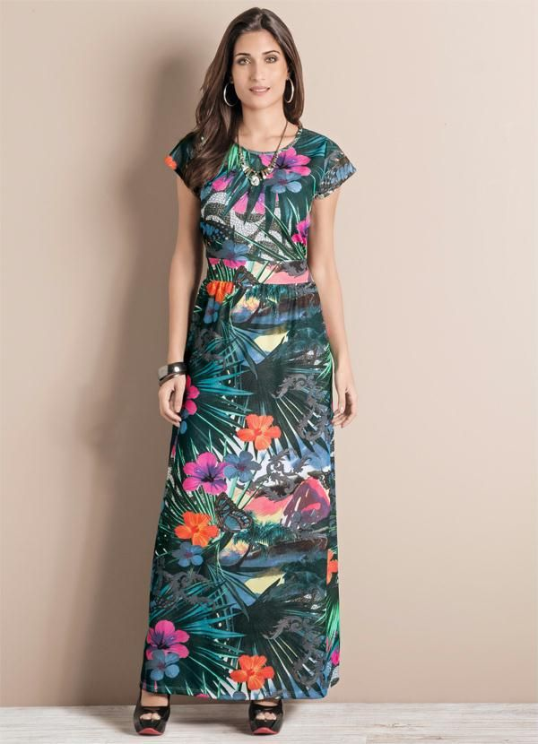 Vestido Longo Tropical - Posthaus
