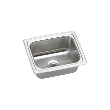 Elkay BPSFR1215 Gourmet Pacemaker Stainless Steel Single Bowl Top Mount Bar  Sink, Silver