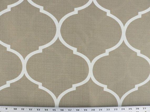 Taupe Fabric, Cappuccino/Ivory Fabric, Gray/Mocha Cream Drapery