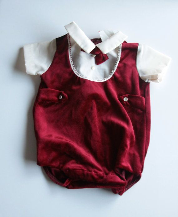 Baby Boy Christmas Outfit 0 3 Months Burgandy With Miny Bowtie And Buttons White Collar Boys Christmas Outfits Baby Boy Christmas Baby Boy Christmas Outfit