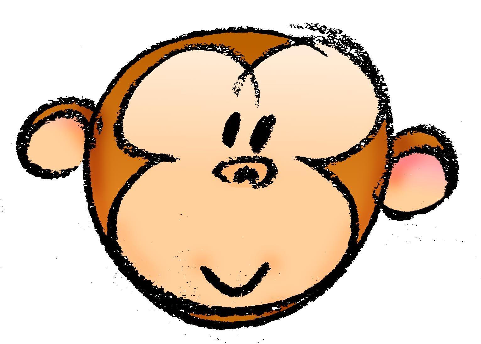 draw a cartoon monkey face cartoon monkey monkey and cartoon